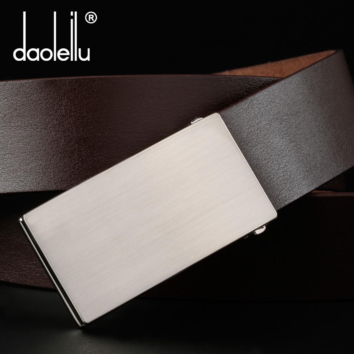Daoleilu один слой коровьей свет пластины пряжка кожаный пояс Мужские платье ремни корейской волны