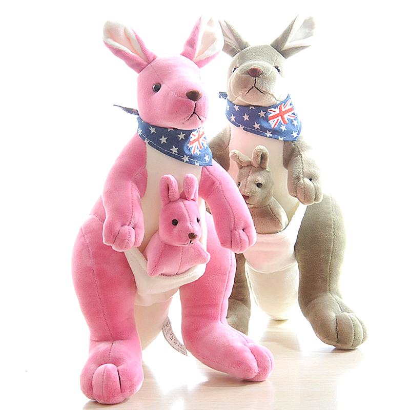 ryry袋鼠毛绒玩具创意母子袋鼠公仔儿童布娃娃亲子玩偶生日礼物
