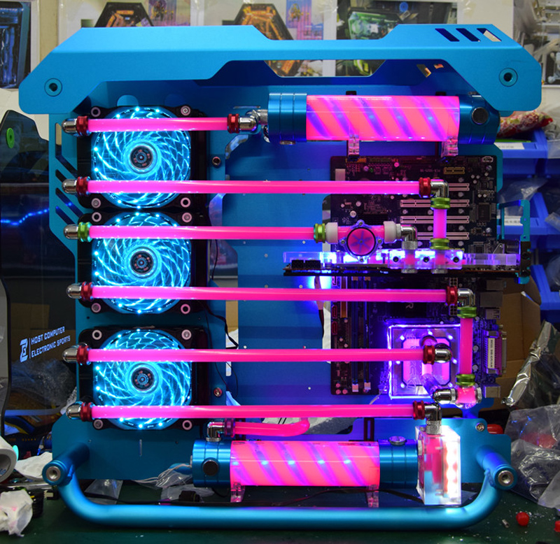 炽果01水冷机箱 双面侧透网咖电竞游戏机箱 个性化机箱