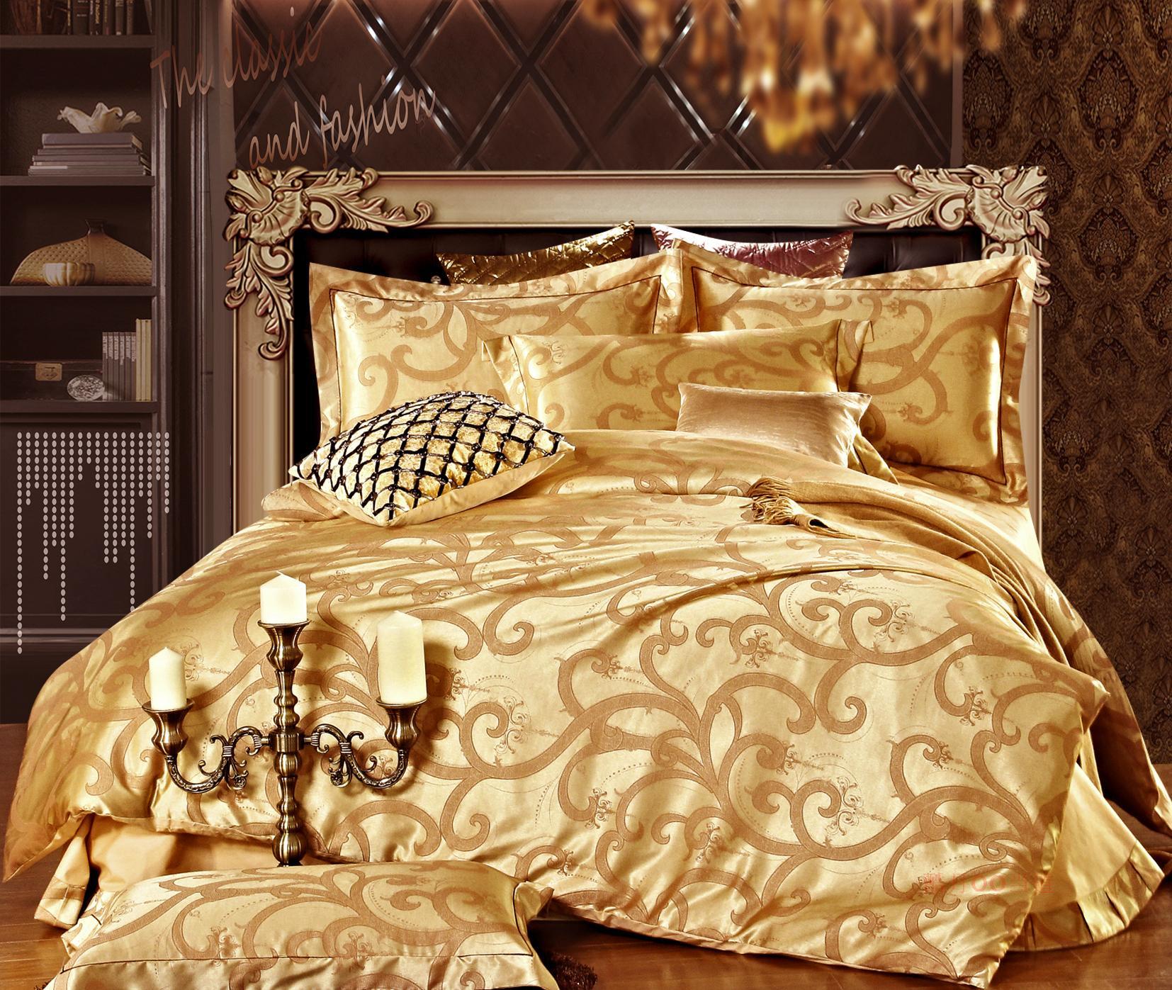 Домашний текстиль аутентичные шелка атласа жаккард постельных принадлежностей четыре части хлопка набор 4 белья Распродажа пакет почты