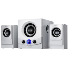 Enke ENKOR E600 notebook computer multimedia desktop stereo speakers affect white 2.1 subwoofer