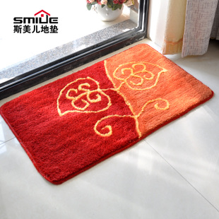 Affordable big promotion flocking mat bedroom bathroom absorbent non slip mats doormat kitchen mats anti slip mats