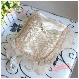 包邮博文品牌金蝶儿高档欧式蕾丝刺绣电话垫电话机套电话罩防尘套