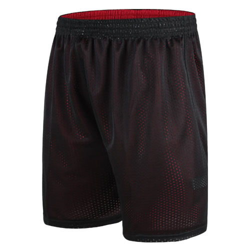 Double face training pants competition Basketball Shorts mens black red street basketball pants beach pants large