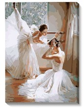 Digital painting diy bag mail scenery flowers sitting room adornment bedroom sharply hand-painted Dancing ballet