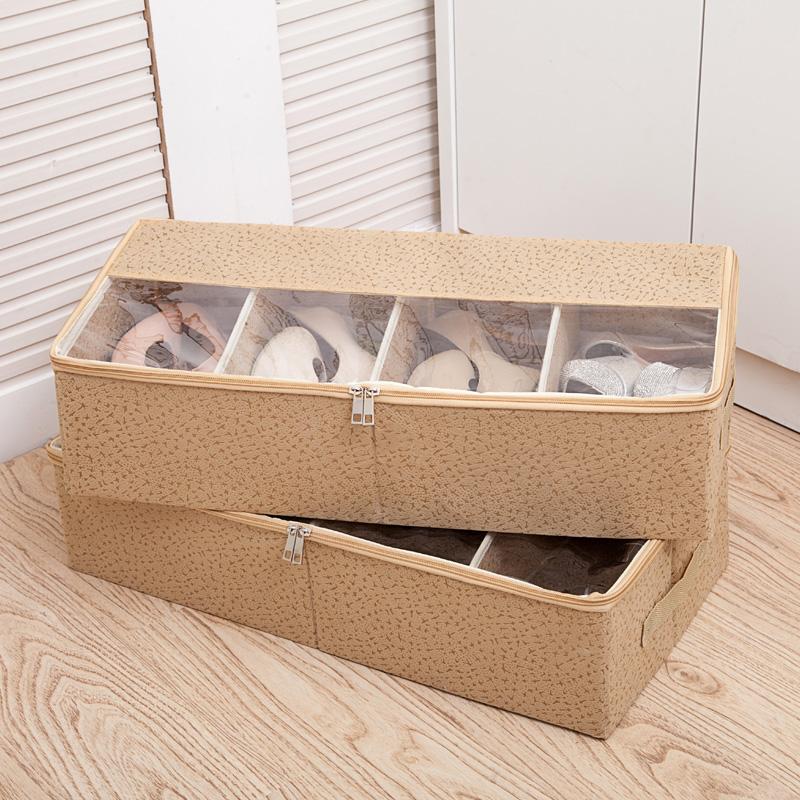 Утолщённый проникновение следующий коробка для обуви кровать конец хранение ботинки обувной может сочетание обувь ящик обувь в коробку ботинок коробка