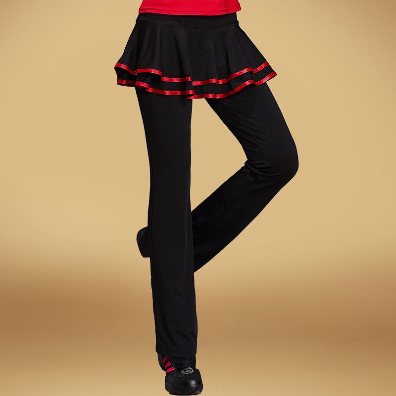 Красочный король кадриль одежда новый юбка-брюки танец брюки весна латинский танцы юбка-брюки женщина практика гонг брюки закутать ребенка почта