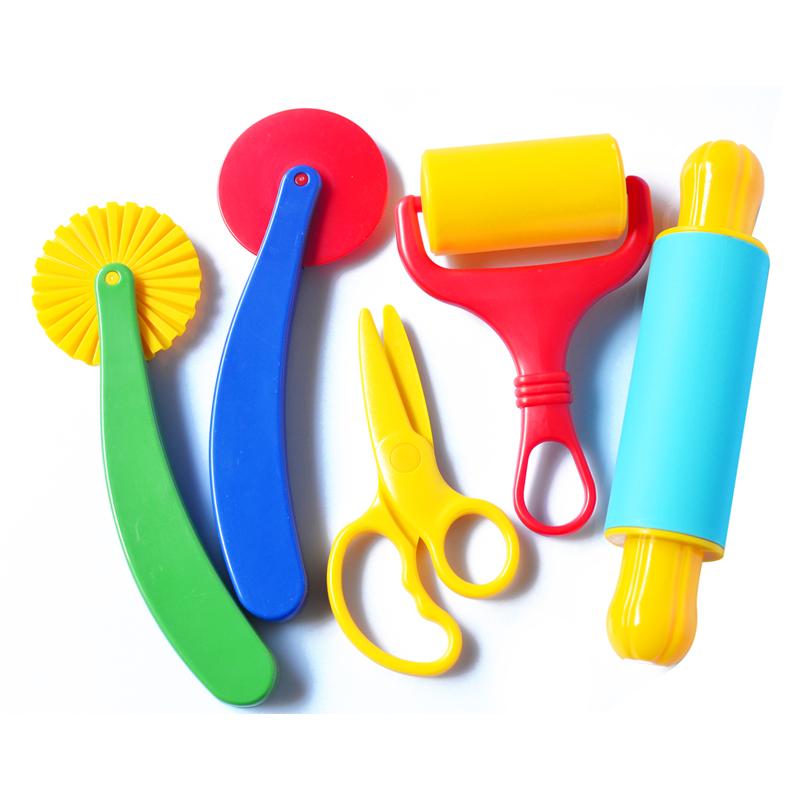 彩泥益智玩具儿童手工制作带剪刀男孩女孩无毒橡皮泥模具工具套装