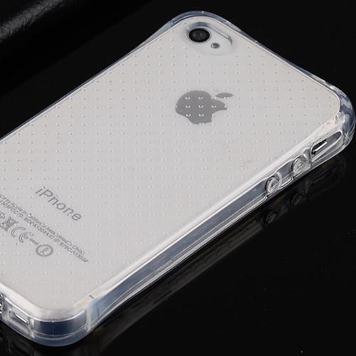 松羚 苹果4s气囊防摔硅胶套iphone4保护套透明软外壳4代手机壳ip4