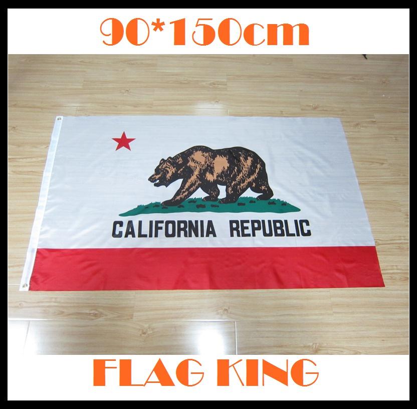 90*150cm 3*5ft гэри благословение виргиния государственный флаг 4 количество полиэстер флаг California Flag