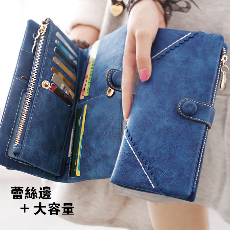 ГРУША кукла кошелек девушка корейской версии ретро застежка-молния вокруг бумажник frosted одной пряжкой массивные деньги клипа бумажник