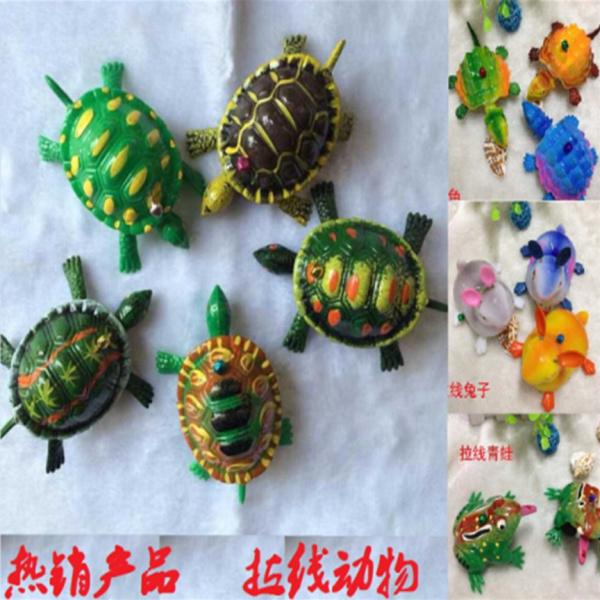 新奇创意拉线乌龟螃蟹兔子龙虾青蛙仿真热卖动物地摊回力儿童玩具