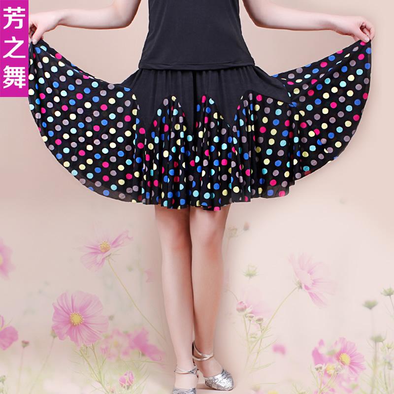 [芳之舞夏季] новая коллекция [广场舞裙子短裙大摆裙服装] комплект [拉丁舞跳舞半身裙]