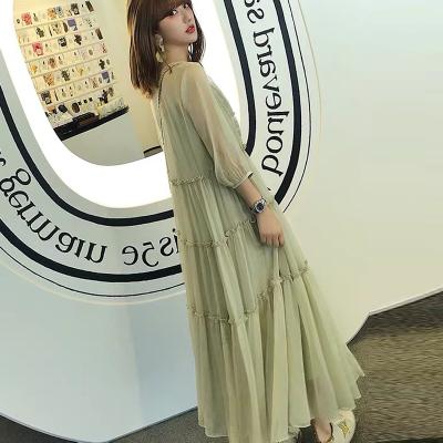 大码女装遮肚裙夏显瘦2020新款减龄宽松洋气套装仙女裙胖mm连衣裙