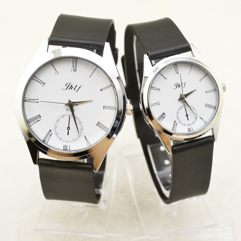 潮流时尚个性复古罗马数字对表橡胶带时装尚学生男表女表手表批发