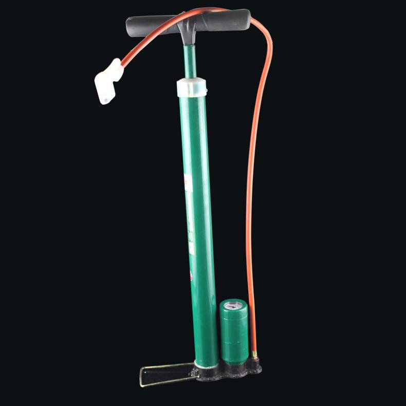 威力狮手动高压钢管打气筒 带表打气筒 轮胎加气工具 气泵