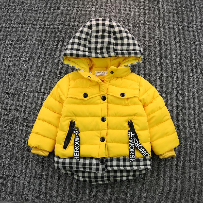 Дети детские толстые зимние пальто куртки пальто мальчиков пальто ребенка младенца из хлопка подходит для корейской версии