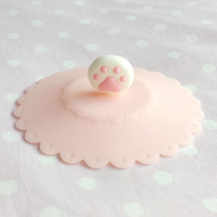 Существует кот сопровождаемый милый порошок тендер кошачий пластиковые стаканчики крышка мясо мяч мясо подушка силиконовый неядовитый лепесток полупроницаемую крышка мяу