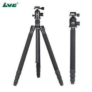 LVG T-254+SK-350三脚架云台套装25mm管径 可转换独脚架专业便携
