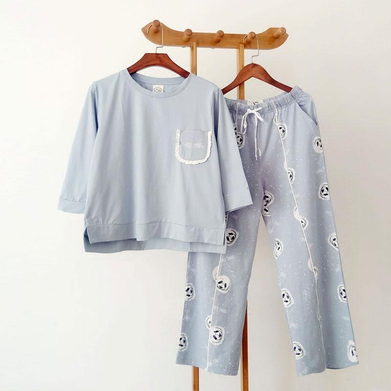 极速鼠斯服玛春夏季纯棉女式中青年睡衣套装可外穿时尚家居服2012