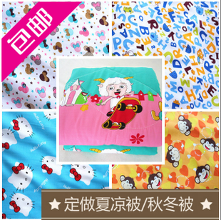Cotton silk fabric silk cotton cloth baby clothing rayon fabric cartoon pajamas summer was cooler fabric wholesale