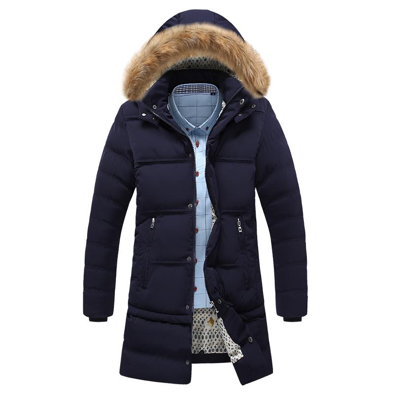 Новый оригинальный Мужские длинные пальто куртки Мужские зимой и хлопок мягкий съемный Подол плюс размер двойной мигает