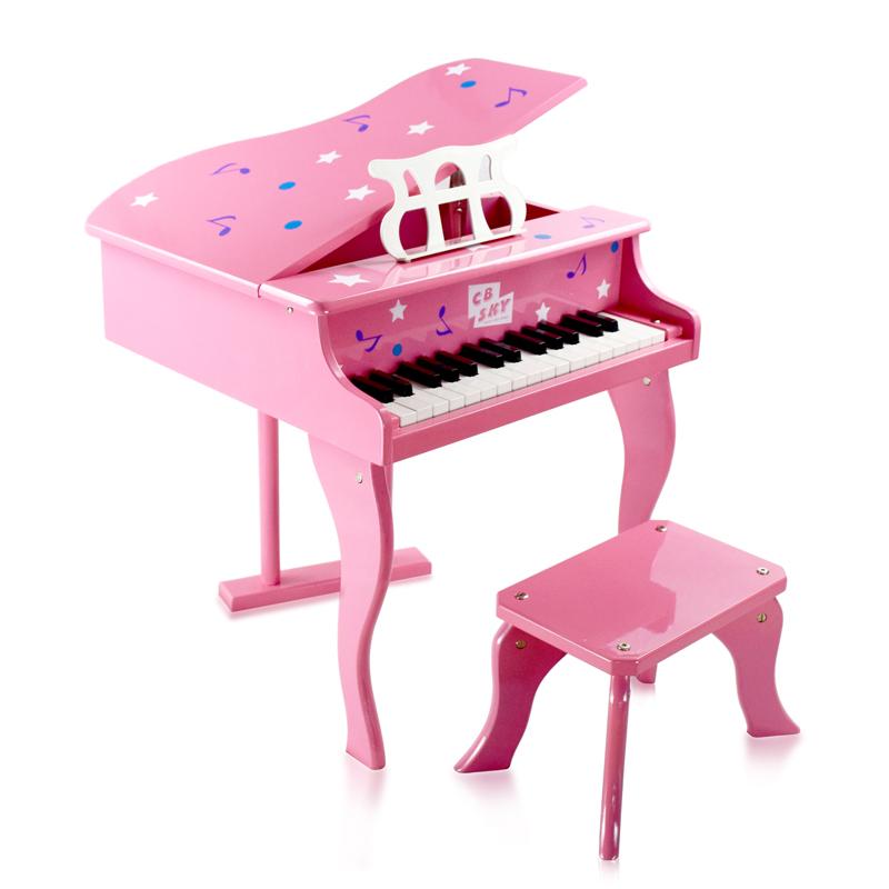 CBSKY деревянный маленький стальной гусли ребенок 30 связь пианино треугольник грейферный начинающий пианино деревянный розовый женщины ребенок пианино