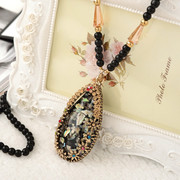 Good Korean sweater chain long exaggerated retro wild decorative autumn accessories pendant necklace pendants-mail