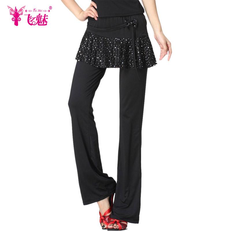 Летать очарование кадриль одежда осень молоко танец брюки новый юбка-брюки йога брюки женщина кадриль юбка-брюки брюки