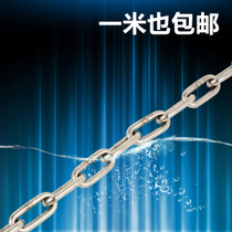 TJBH 304 stainless steel chain 3mm coarse Tiching pet dog iron chain ring chain chandelier chain hanging rope