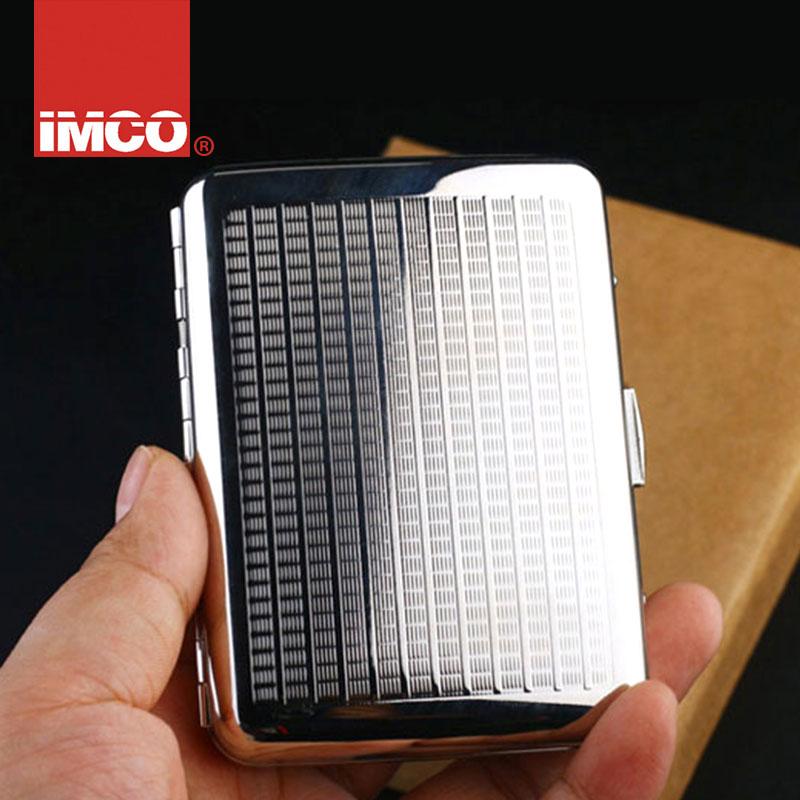 IMCO愛酷煙盒奧地利超薄20支裝男士香菸 純銅自動金屬煙盒