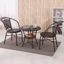 Small household company Leisure hospitality table and chair combination balcony three sets tea small table commercial reception table and chair