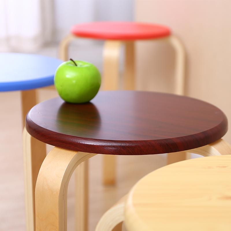 實木凳圓凳 板凳餐桌凳 餐凳家用凳木凳子實木矮凳 簡約