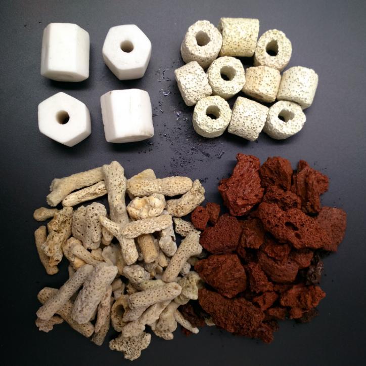 鱼缸滤材净水过滤材料水族箱全家福火山石珊瑚石砂陶瓷环细菌环屋