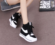 New winter high help shoes inside the female shoes large base sponge 34 small yards han edition of leisure sports shoes