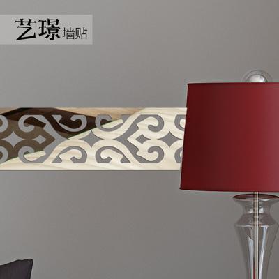 艺璟3D亚克力镜面墙贴腰线踢脚线吊顶天花板电视背景墙面装饰边框