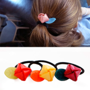 Know Connie hair accessories Korean flower rings made by the yeziyakeli sweet fashion hair rope string band Flower jewelry