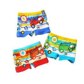 奥思鸟可爱小汽车儿童泳裤男童中小童平角裤宝宝婴儿小孩泳衣温泉