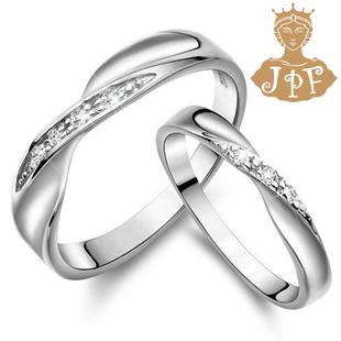 JPF 925 silver ring on the ring couple female Korean silver jewelry Valentines Day gifts to send his girlfriend