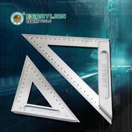 测量工具 木工90度直角尺 不锈钢三角尺子宽铝座150mm200mm