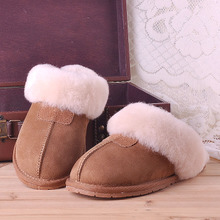 Qiu dong you sheep fur from the stars together men and women lovers cotton wool slippers to keep warm household
