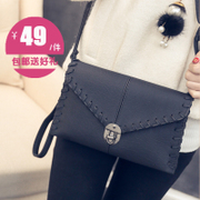Fashion with baodan oblique cross handbag shoulder bag retro candy mini latch knitting Korean version of simple hand bag