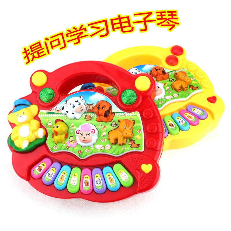 Специальное предложение животное ферма музыка гусли ребенок просветить обучения в раннем возрасте ребенок игрушка электроорган девушка головоломка музыка гусли