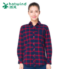 Hot spring and fall women's Japanese sweet slim long sleeve shirt women Plaid Shirt women 02H5702