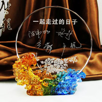 Glass Crystal Trophy Creative custom DIY photos custom-made high-end gifts teachers Day gift free engraving