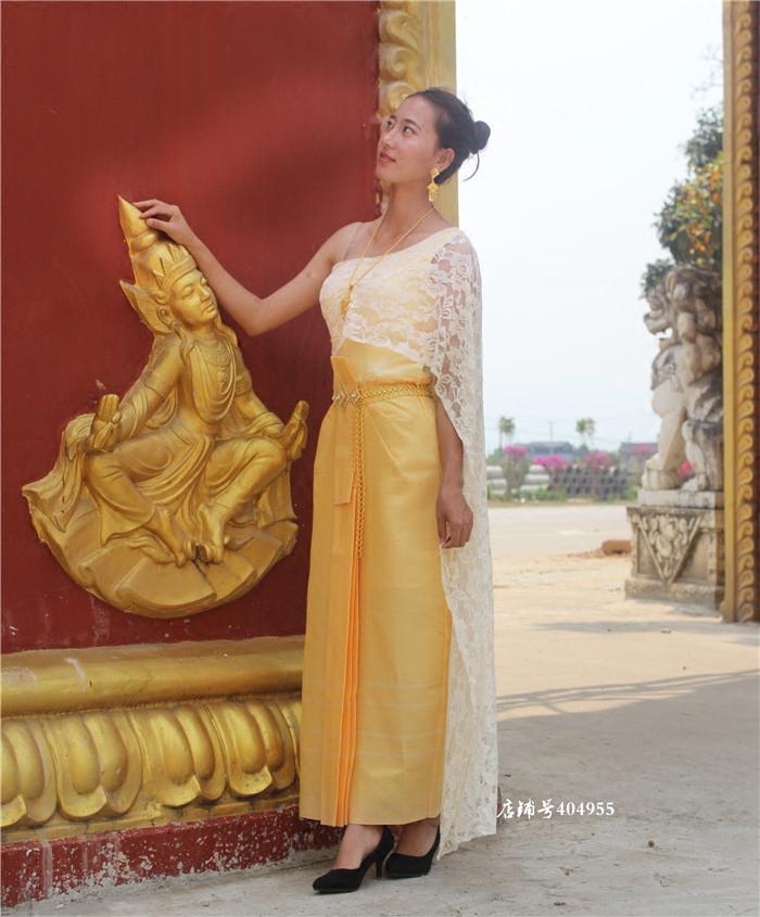 Thai traditional dress wedding dress Dai womens water splashing Festival Thai costume Xishuangbanna Water Splashing Festival Costume