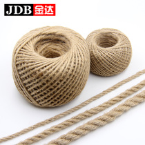Coarse Hemp Rope Decorative Rope Hemp Thread Braided material packaging bundled with fine rope handmade diy rope rope Ornament Decorations