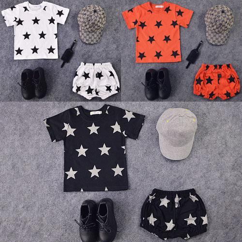 ЧАО NU детей baby мальчики лета набор звезд хлопок короткие t рубашка большой PP штаны 0-1-2-3-4 лет
