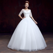 One shoulder wedding dress spring/summer new 2014 together with purple Korean fashion lace bridal diamond