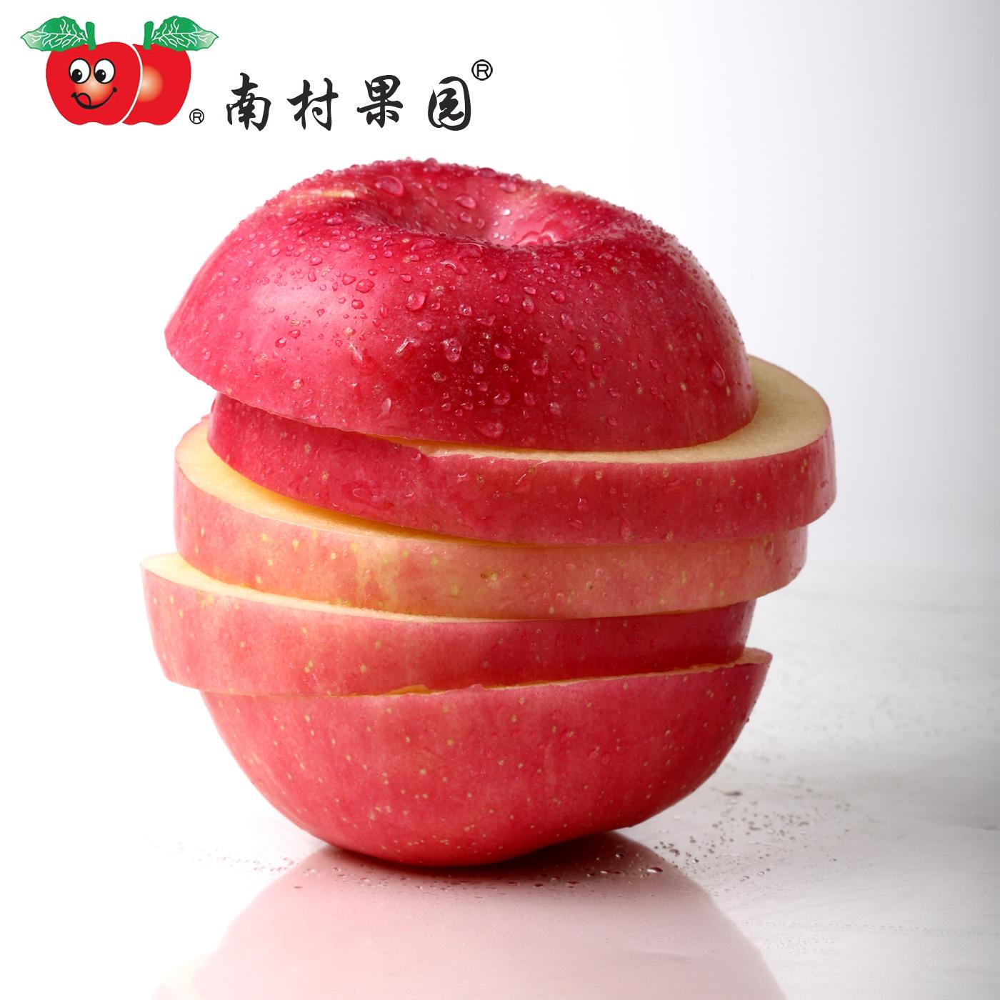 山东烟台栖霞红富士南村果园DDD8斤12粒装特大富士苹果水果新鲜